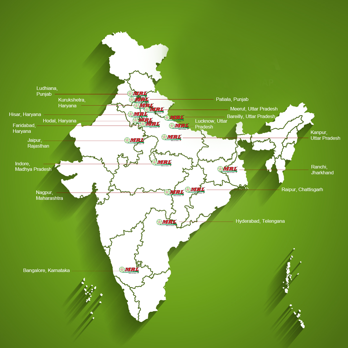 MRL Tyres Warehouse and Office Locations